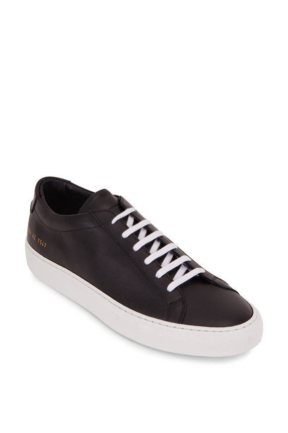 Common Projects Achilles Black Leather Low Top Sneaker