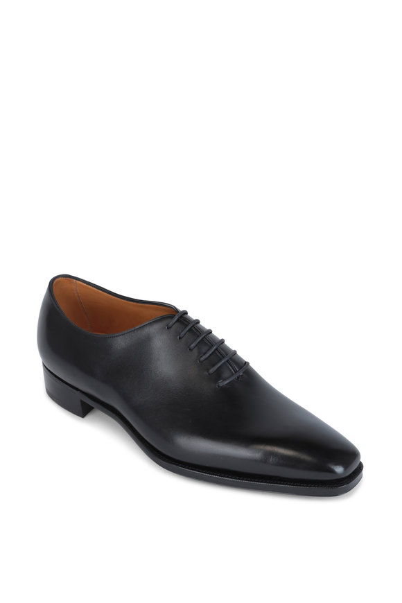 Gaziano & Girling Sinatra Black Leather Oxford Dress Shoe