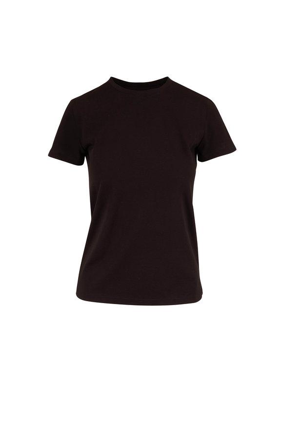 Vince Essential Black Cotton Crewneck T-Shirt