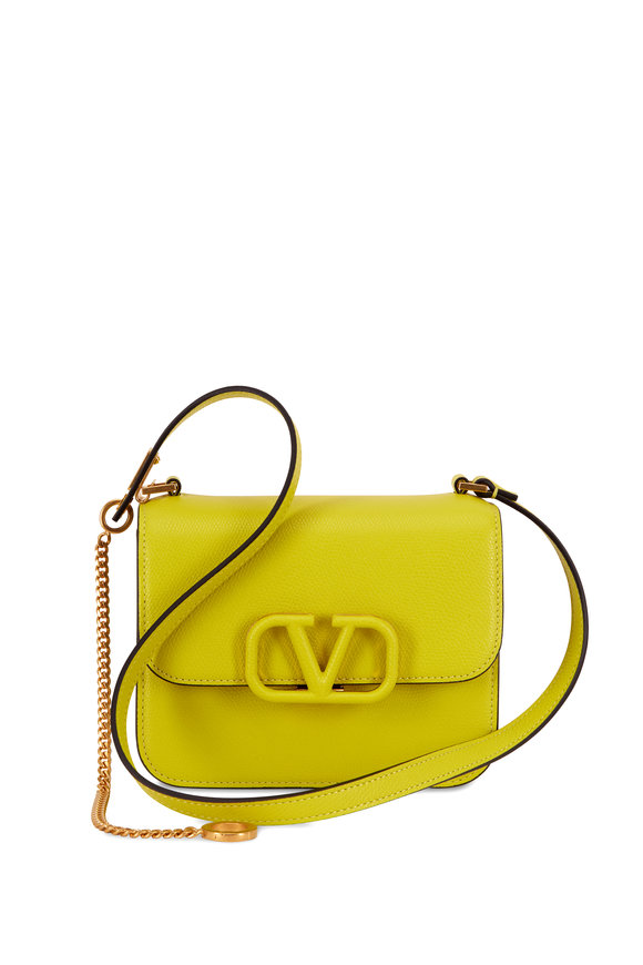 Valentino Garavani V-Sling Cedar Grained Leather Small Shoulder Bag