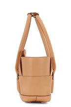 Bottega Veneta - Arco 29 Nude Woven Leather Small Top Handle Bag