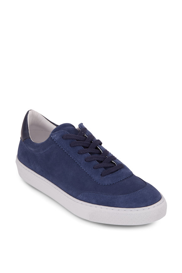 G Brown Sprint Blue Suede Low-Top Sneaker