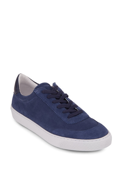 G Brown - Sprint Blue Suede Low-Top Sneaker
