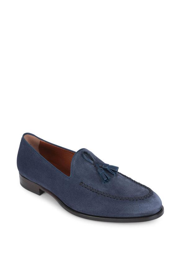 Ermenegildo Zegna Parma Blue Suede Loafer