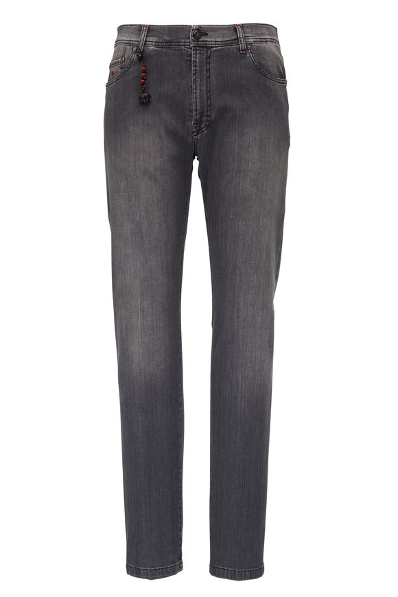 Marco Pescarolo Medium Gray Five Pocket Jean