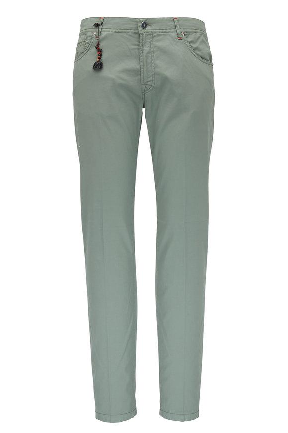 Marco Pescarolo Sage Cotton & Silk Five Pocket Pant