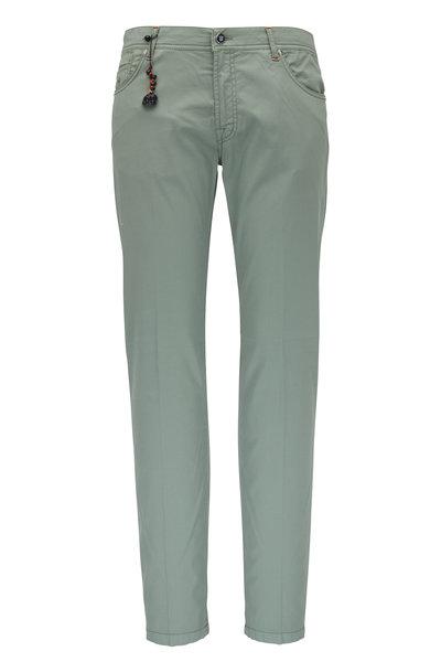 Marco Pescarolo - Sage Cotton & Silk Five Pocket Pant