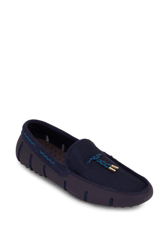 Swims MS Lace Through Navy Blue Loafer