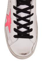 Golden Goose - Superstar White Pink Star & Glitter Back Sneaker