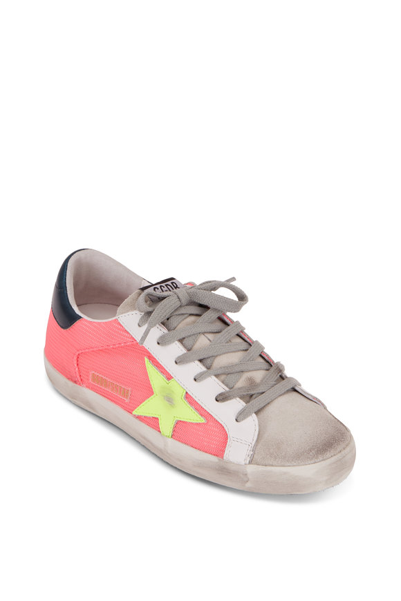 Golden Goose Superstar Salmon Mesh Yellow Star Sneaker