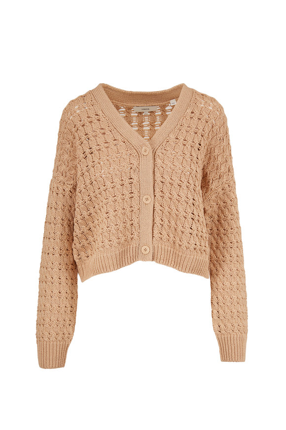 Vince Vanilla Open Cable Knit Cardigan