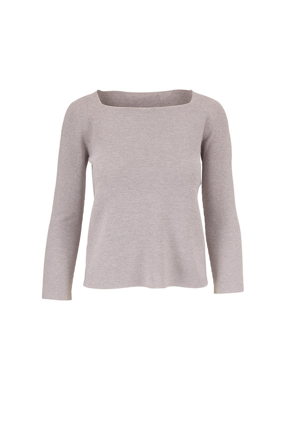 D.Exterior Silver Lurex Knit Top