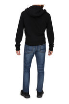 Tom Ford - Black Wool & Suede Front Zip Hoodie