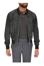 Tom Ford - Green Suede Perforated Bomber