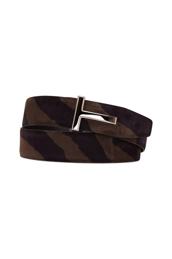 Tom Ford T-Line Musk & Black & Solid Black Reversible Belt