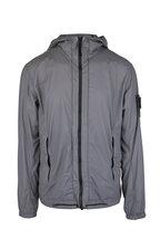 Stone Island - Skin Touch Nylon Gray Hooded Jacket