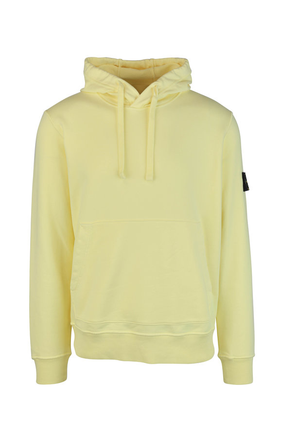 Stone Island Lemon Cotton Hooded Sweatshirt
