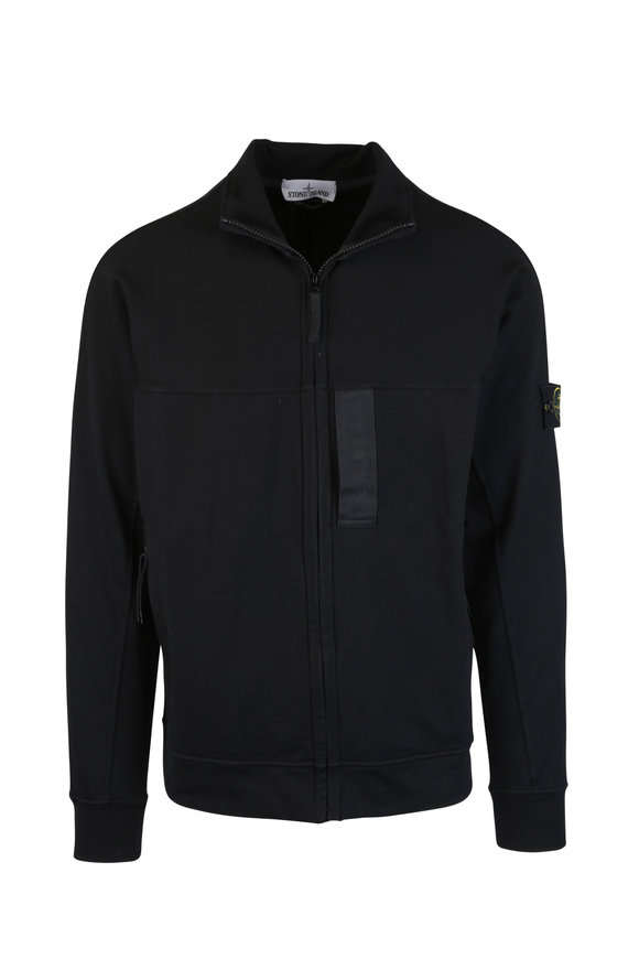 Stone Island Black Front Zip Sweater