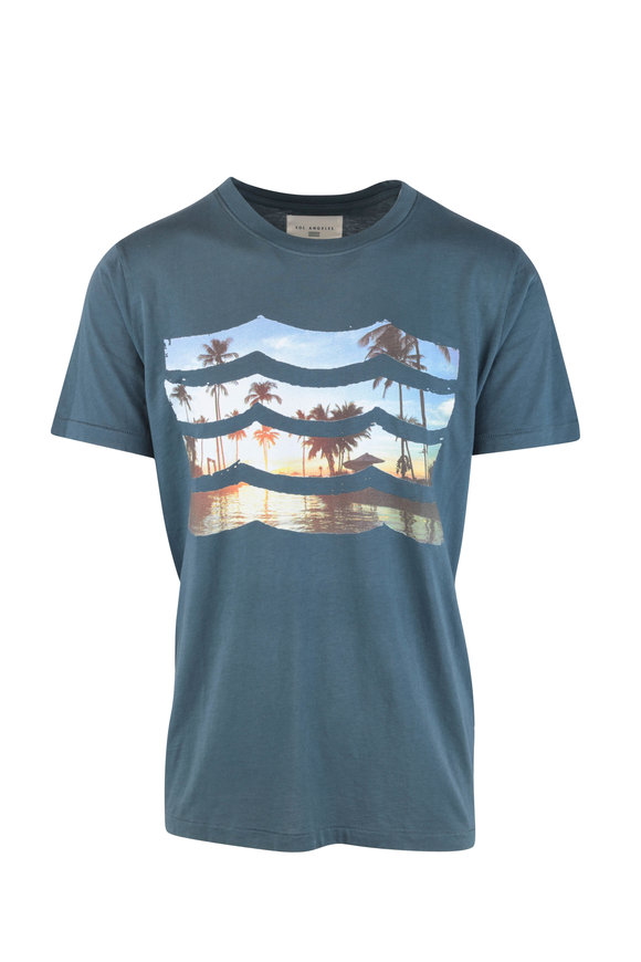 Sol Angeles Sun Soaked Waves Blue T-Shirt