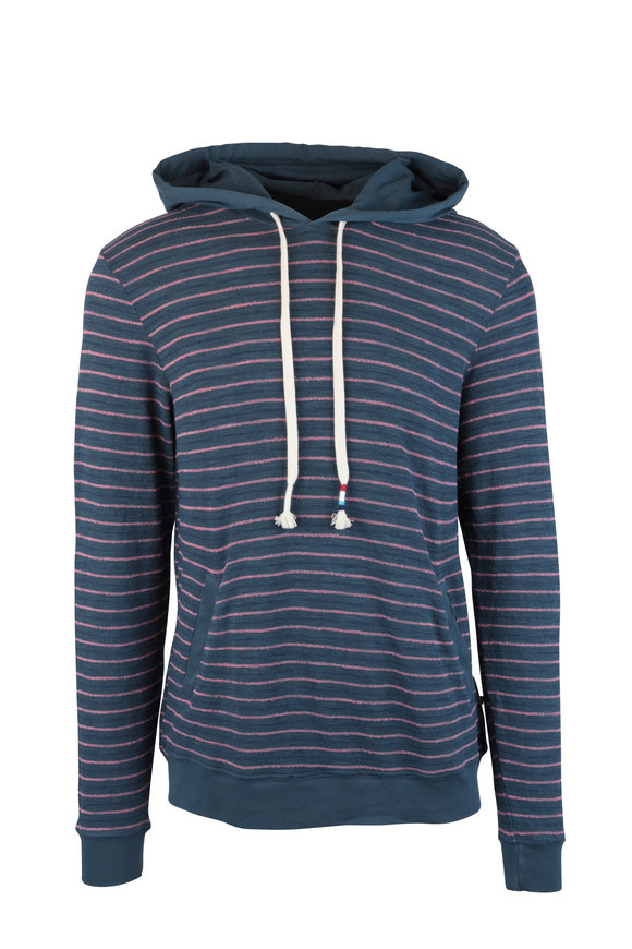 Sol Angeles Monterey Jasper & Coral Striped Hoodie