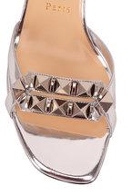Christian Louboutin - Galerietta Specchio SIlver Studded Sandal, 55mm