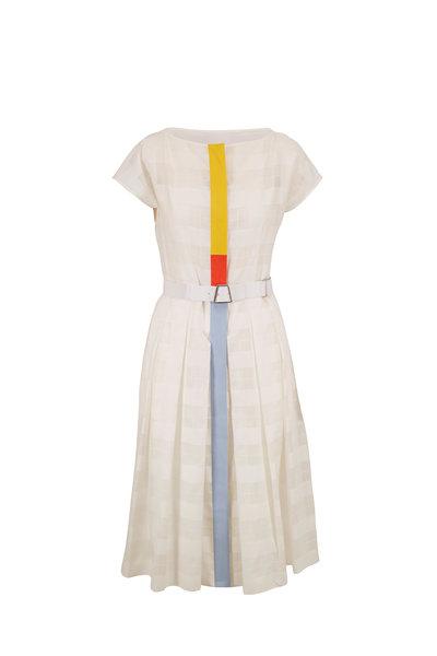 Akris - Jasmine Transparent Check Weave Dress