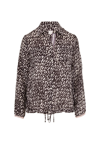 Bogner - Anela Black & White Printed Collared Blouse