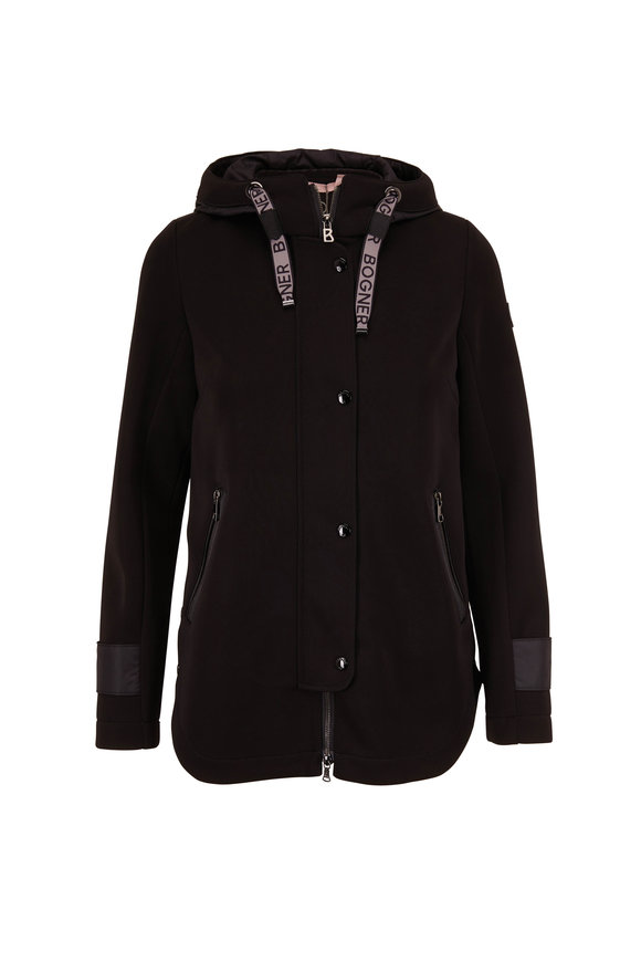 Bogner Zilla Black Snap Front Hooded Jacket