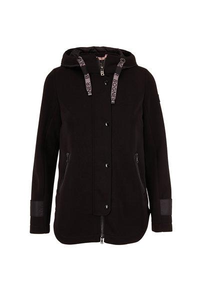 Bogner - Zilla Black Snap Front Hooded Jacket
