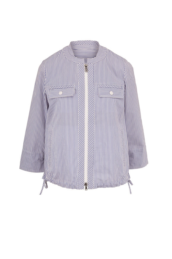 Bogner Romie Blue & White Stripe Front Zip Jacket