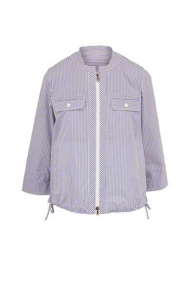 Bogner - Romie Blue & White Stripe Front Zip Jacket