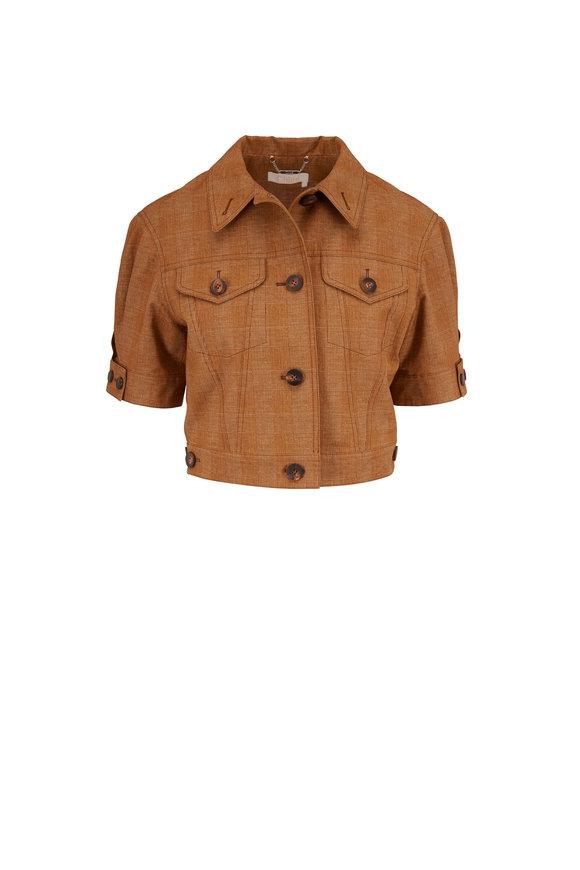Chloé Havana Khaki Prince Of Wales Check Mason Jacket