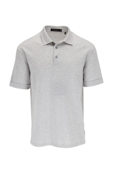 Ermenegildo Zegna - Gray Diagonal Stripe Cotton Polo