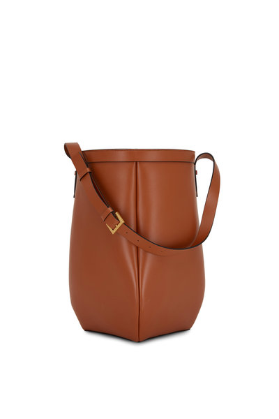 Valentino Garavani - By Your Side Cognac Leather Large Bucket Bag