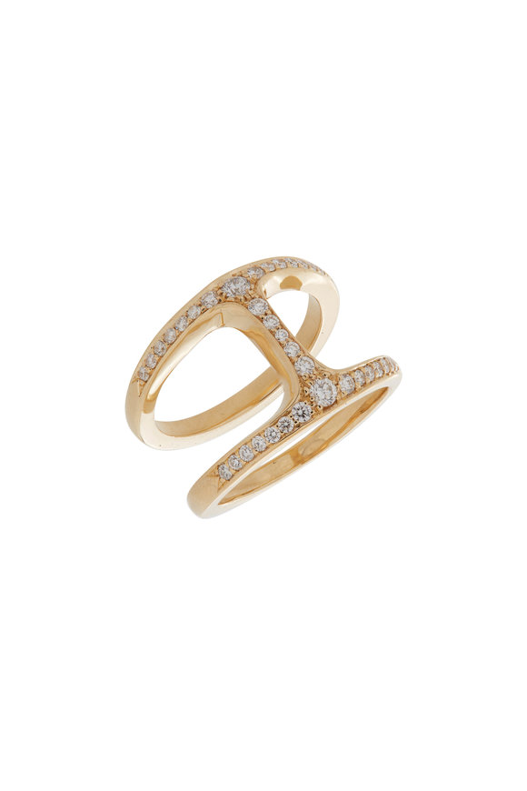 Hoorsenbuhs 18K Yellow Gold Dame Diamond Phantom Ring