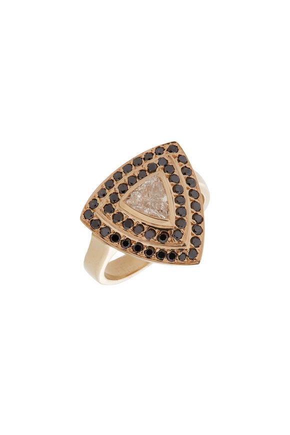 Genevieve Lau 14K Yellow GoldTriangle Diamond Ring