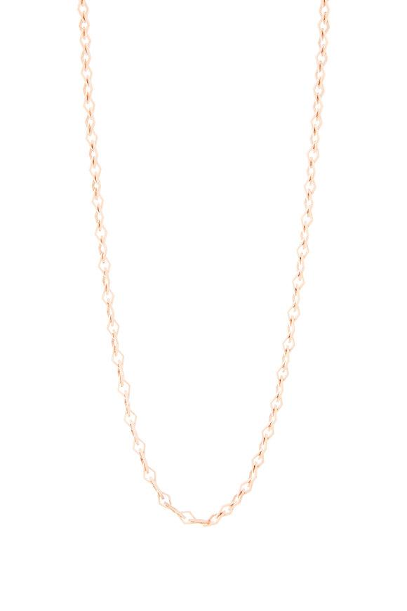Genevieve Lau 14K Rose Gold Diamond Shape Link Chain Necklace