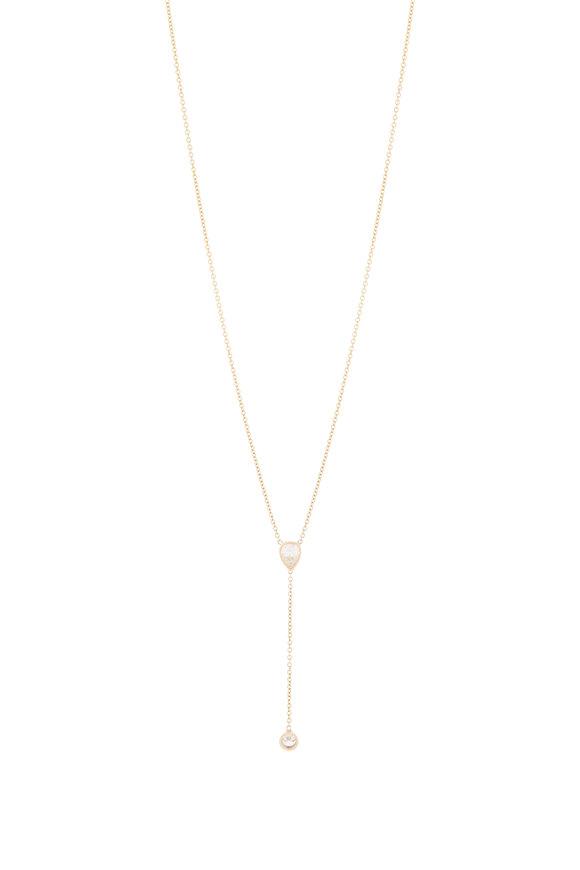 Genevieve Lau 14K Yellow Gold Diamond Y Necklace