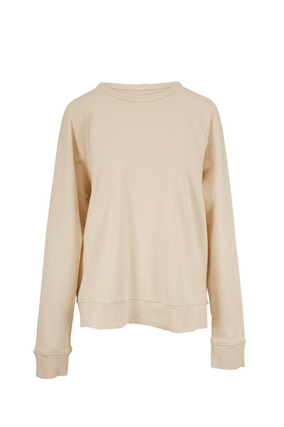 Vince - Yellow Mist French Terry Garment Dyed Sweatshirt