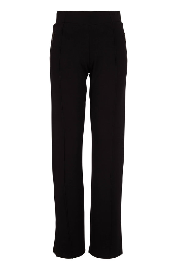 Bogner Ajana Black Logo Zip Pocket Wide Leg Pull-On Pant