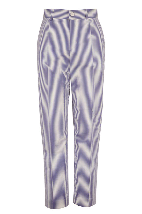 Bogner Abbie Blue & White Stripe Stretch Cotton Pant