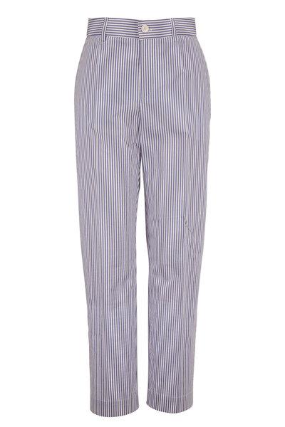 Bogner - Abbie Blue & White Stripe Stretch Cotton Pant