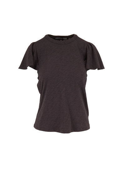 Veronica Beard - Zuma Charcoal Ruffle Sleeve T-Shirt