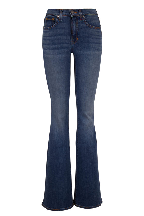 Veronica Beard Beverly Nantucket Sea High-Rise Flare Jean