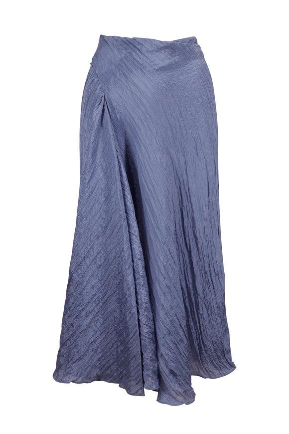 Vince Sky Graphite Textured Drape Skirt