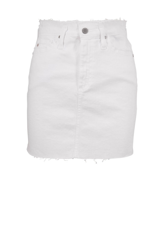 AG - Adriano Goldschmied The Vera White Denim Mini Skirt
