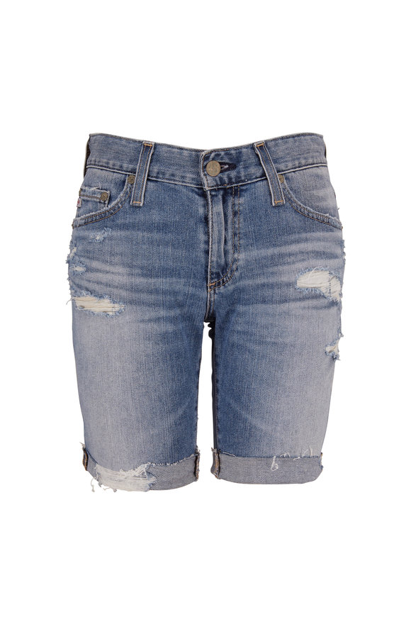 AG - Adriano Goldschmied The Nikki 16 Years Indigo Deluge Destructed Shorts