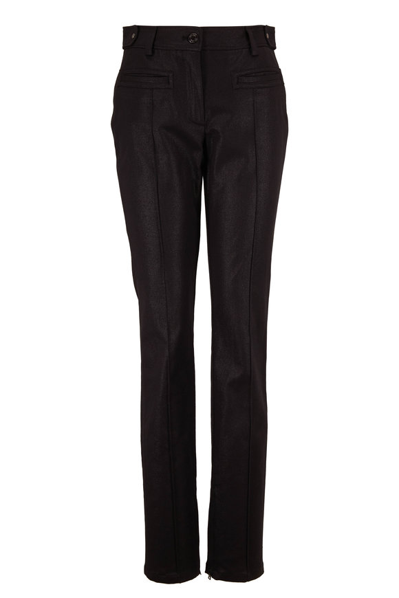 Tom Ford Metallic Black Raised Seam Denim Pant