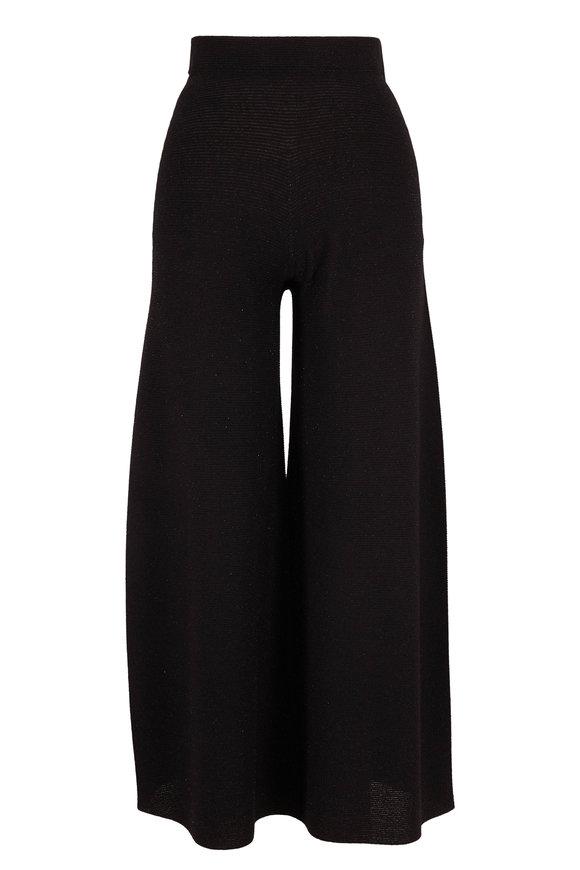 D.Exterior Black Lurex Pull-On Crop Pant