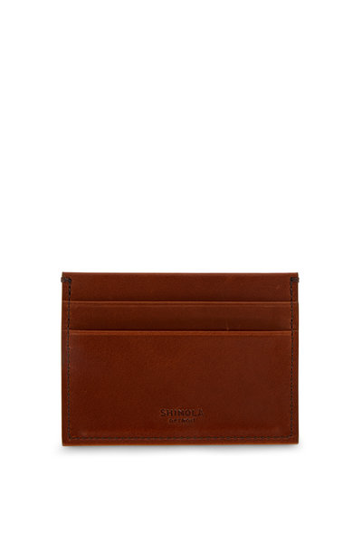 Shinola - Brown Leather Five Pocket Card Case